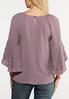 Plus Size Lavender Ruffled Sleeve Top alternate view