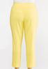 Plus Size Yellow Scalloped Pants alternate view