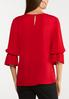 Plus Size Dramatic Sleeve Woven Top alternate view
