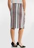 Plus Size Asymmetrical Wrap Skirt alternate view