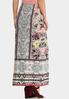 Plus Size Spring Floral Maxi Skirt alternate view