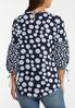 Plus Size Dotted Balloon Sleeve Top alternate view