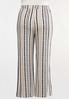Plus Size Neutral Striped Pants alternate view