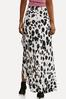 Plus Size Leopard Faux Wrap Skirt alternate view