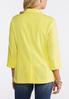 Plus Size Yellow Scalloped Blazer alternate view