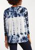 Plus Size Tie Dye Cinched Top alternate view