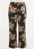 Plus Size Wide Leg Floral Pants alternate view