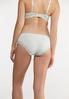 Plus Size White Aqua Lace Trim Panty Set alt view