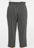 Plus Size Black And White Tie Pants alternate view