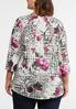 Plus Size Knotted Floral Check Top alternate view