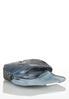 Blue Gray Croc Wristlet alternate view
