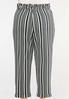 Plus Size Stripe Paperbag Pants alternate view