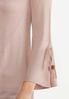 Plus Size Tie Sleeve Blush Cardigan alt view