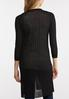 Plus Size Sheer Black Cardigan Sweater alternate view