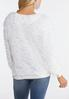 Plus Size Fluffy Ivory Scoop Neck Top alternate view