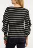 Plus Size Ruffle Sleeve Stripe Top alternate view
