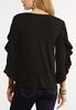 Plus Size Ruffled Slit Sleeve Top alternate view