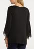 Pleated Lace Sleeve Top alternate view