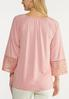 Plus Size Bell Sleeve Lacy Top alternate view