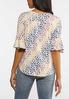 Plus Size Floral Flutter Sleeve Tee alternate view