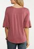 Plus Size Flutter Sleeve Top alternate view