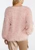 Plus Size Fluffy Pink Scoop Neck Top alternate view