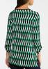 Green Twist Print Top alternate view