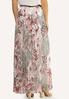 Plus Size Floral Mesh Maxi Skirt alternate view