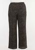 Plus Size Dotted Crepe Palazzo Pants alternate view