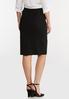 Plus Size Black Bengaline Pencil Skirt alternate view