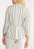 Plus Size Stripe Linen Jacket alternate view
