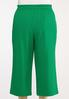 Plus Size Green Cropped Pants alternate view