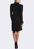 Plus Size Black Puff Shoulder Dress alternate view