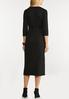 Plus Size Belted Ribbed Midi Dress alternate view