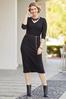 Plus Size Belted Ribbed Midi Dress alt view