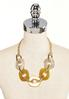 Chunky Lucite And Metal Link Necklace alternate view