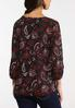 Plus Size Paisley Cinched Top alternate view