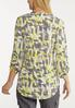 Plus Size Yellow Geo Pullover Top alternate view