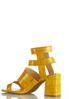 Wide Width Golden Croc Heeled Sandals alternate view