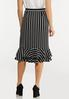 Stripe Tiered Ruffle Skirt alternate view