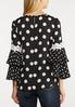 Black And White Dotted Top alternate view