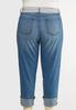 Plus Size Belted Boyfriend Jeans alternate view