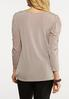 Plus Size Draped Puff Sleeve Top alternate view