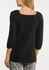 Plus Size Stretchy Textured Top alternate view