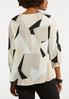 Plus Size Geo Pleated Pullover Top alternate view
