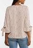 Plus Size Speckled Button Front Shirt alternate view