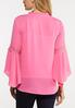 Pink Ruffled Neck Top alternate view