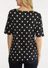 Plus Size Polka Dotted Top alternate view