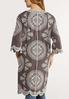 Embroidered Gray Kimono alternate view