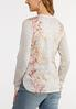 Plus Size Floral Thermal Top alternate view
